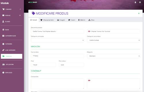 Aplicatie gestiune Marketplace
