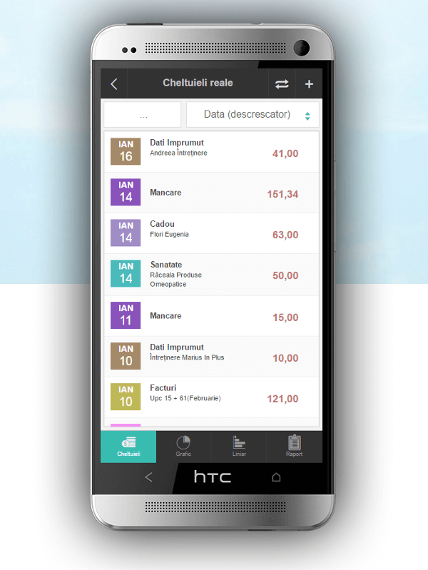 aplicatie hibrida pe Android de gestiune a cheltuielilor