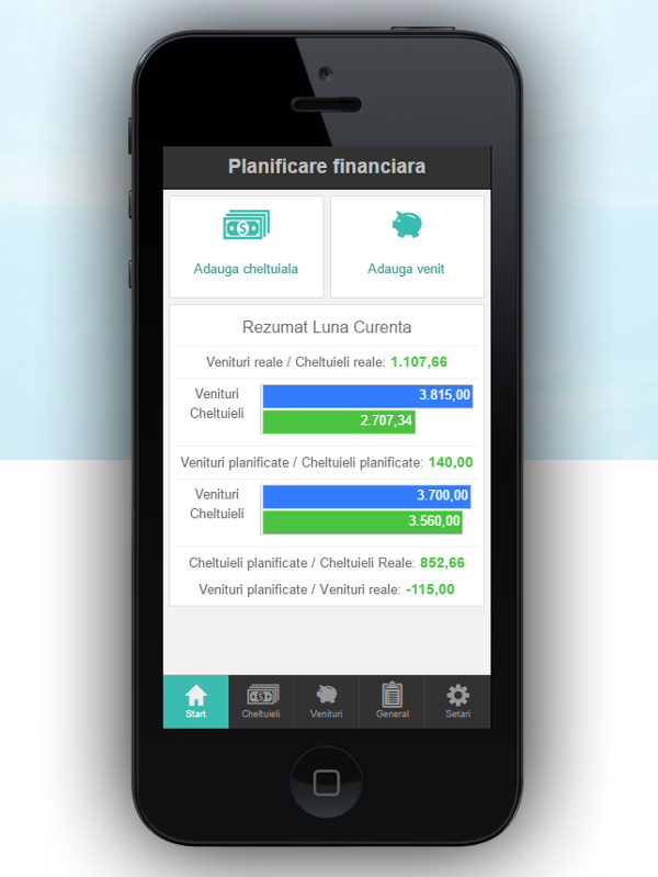 aplicatie mobile financial planning ios si andorid